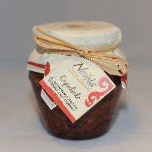 Capuliato di pomodoro secco tritato con capperi